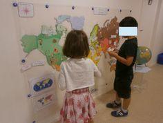 Géographie: planisphère à compléter (Nurvero)
