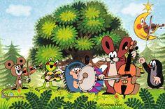 The whole gang Puzzle Cube, La Petite Taupe, Best Children Books, Mole, Book Illustration, Vintage Children, Pet Birds, Cartoon Characters, Kids Playing