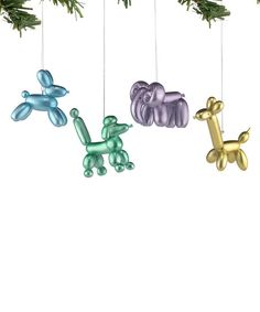 Jolly Balloon Animal Ornament - Set of Four