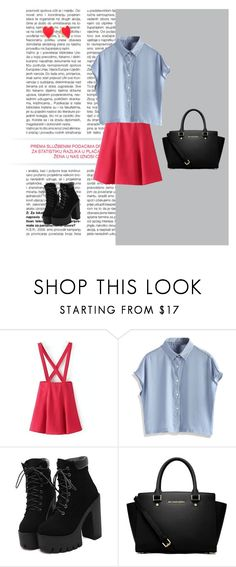 """Geen titel #305"" by lovaticxiris on Polyvore featuring mode, Chicwish, MICHAEL Michael Kors en Kate Spade"