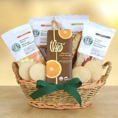 Graduation Gift:Spring into Starbucks gift basket Father's Day Gift Basket Graduation Gift Idea Birthday Gift Idea