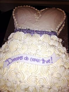 Unique Bridal Shower Cakes Purple Cake And