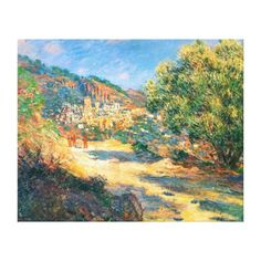 Claude Monet: The Road to Monte Carlo Gallery Wrapped Canvas