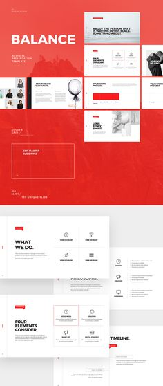 BALANCE - FREE MINIMAL POWERPOINT & KEYNOTE TEMPLATE on Behance