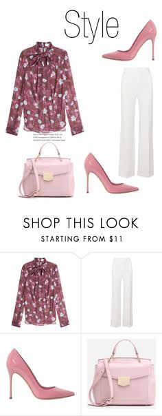 """""""487"""" by meldiana ❤ liked on Polyvore featuring Carven, Roland Mouret and Sergio Rossi"""