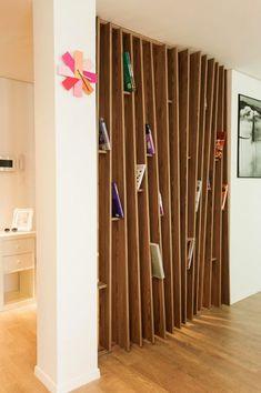 unusual wood dividing wall