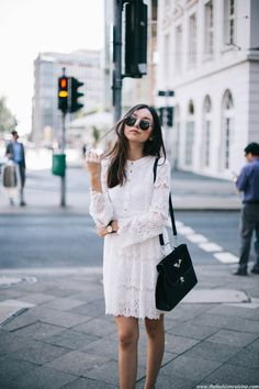 white lace dress the fashion cuisine