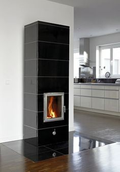Fireplaces, Home Decor, Wood Burning Fireplaces, Stoves, Woodwind Instrument, Square Floor Plans, Fireplace Heater, Tiling, House Construction Plan