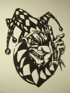 Wicked Jester CNC Plasma Cut Metal Wall Sculpture