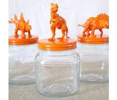 Sculptures w/plastic toys, spraypaint, monochromatic