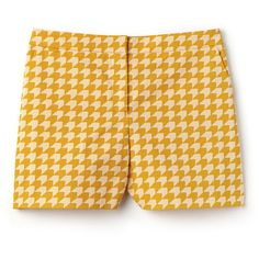 Orange Women's Bermuda Shorts With Houndstooth Print (490 DKK) ❤ liked on Polyvore featuring shorts, bottoms, pants, yellow, orange bermuda shorts, bermuda shorts, lacoste, houndstooth shorts and yellow shorts