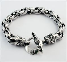 "Silver Bracelet ""Double Trace Chain"" 