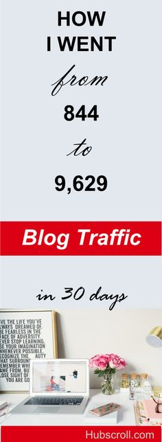 How I Increased My Blog Traffic by 1040.88% in 30 days. I honestly feel so excited sharing this blog traffic and page views report. #blog #blogging #blogreport