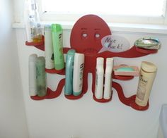 Now you can use this funny DIY bathroom storage cabinet and make your bathroom looks cool. You can also use the similar one at your home by placing different objects with keeping different things. Diy Bathroom Decor, Home Decor Kitchen, Bathroom Ideas, Blue Coffee Tables, Diy Shampoo, Nice Rack, Small Closets, Beach Bathrooms, Living Room White