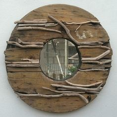 DRIFTWOOD & RECLAIMED WOOD MIRROR~ ~LARGE~ £85.00