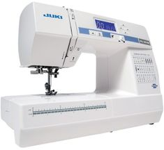 The Juki HZL-LB5100 is one of the more affordable Juki computerized sewing machines.  Owners report that it provides very good value for the money.  The LB5100 is designed for both the beginner and the advanced sewist.  It is also lightweight and fairly compact, making it a good choice for those who want a portable machine. If you want an affordable Juki definitely give this one a look. Sewing Machine Brands, Sewing Machine Parts, Sewing Machine Reviews, Sewing Machines, Juki, Sewing Basics, Janome, Compact, Scrappy Quilts