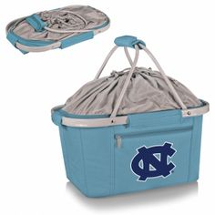 North Carolina Tar Heels Metro Basket by Picnic Time. Short Description: The Metro Basket is a lightweight fully-collapsible, insulated basket that can be used for many occasions. It's made of durable 600D polyester canvas and features a water-resistant interior and expandable drawstring top and sturdy aluminum frame from which the canvas detaches. Easy to clean and versatile, the Metro Basket is a thoughtful gift for those always on the go.  Components:  1 Cooler tote    Key Features…