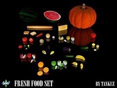 Fresh Food Set by Tankuz for Sims 3