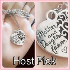 Mother Daughter Necklace Silvertone zinc alloy necklace. Chain is about 28 inches. New in package. Jewelry Necklaces