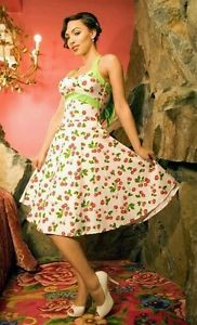 PINUP-COUTURE-Daisy-white-cherry-50s-style-pinup-rockabilly-swing ...
