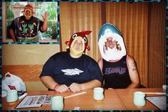 jorge garcia 2004 in Tokyo with Fox. The fish head would later become part of my fish tank costume. But the shark head fell apart before I could turn it into my poster-from-JAWS costume. Shark Head, Matthew Fox, Evangeline Lilly, On Set, Fish Tank, Polar Bear, Behind The Scenes, Tokyo, Fans