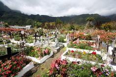 LA Réunion. Le cimetière paysager de Hell-Bourg.