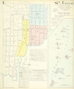 Goad (Chas E. Hand Coloring, Colouring, Street Names, Bloomsbury, Islands, Caribbean, United Kingdom, Maps, Numbers