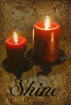 Shine photo with candles and textured background  by NewCreatioNZ, $29.00