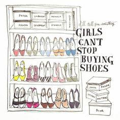 """""""教えてあげる。女の子は靴を買うのがやめられないの。"""" このイラストの様に、靴箱がいーっぱいになっている女性、きっとたくさんいますよね?"""