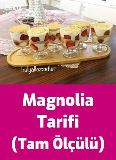 Magnolia Recipe (Full Measured) - My Delicious Food - Dessert Recipes Delicious Cake Recipes, Yummy Cakes, Yummy Food, Dessert Simple, Easy Desserts, Dessert Recipes, Food Tags, Cake Mix Cookies, Turkish Recipes