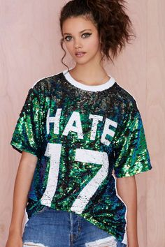 Hi Haters Sequin Tee | Shop Clothes at Nasty Gal