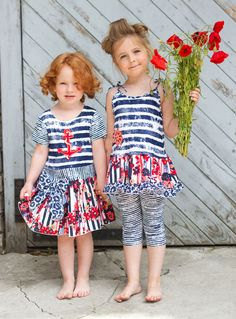 jamesgirone:    spring 2013 girls' clothes trends: Zaza Couture's red, white and blue tie-dyed pieces for the hip little patriot.