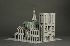 Notre Dame cathedral in LEGO by torgugick Cool Lego, Awesome Lego, Micro Lego, Lego Boards, Amazing Lego Creations, Lego System, Lego Architecture, Gothic Architecture, Ideas
