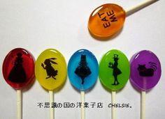 $不思議の国の洋菓子店-アリス ポップキャンディ 棒付きキャンディ