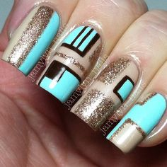 Instagram photo by jamylyn_nails #nail #nails #nailart Get Nails, Love Nails, How To Do Nails, Hair And Nails, Fabulous Nails, Gorgeous Nails, Pretty Nails, Vernis Semi Permanent, Geometric Nail
