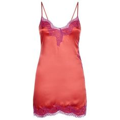 Agent Provocateur Lucie Silk Slip (€170) ❤ liked on Polyvore featuring intimates, shapewear, dresses and underwear