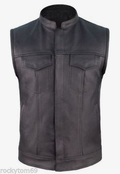 concealed carry leather motorcycle vest $65.95 #concealedcarryvest #motorcyclevest #clubvest https://theleatherdropship.com