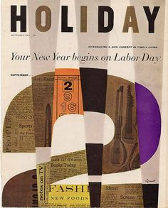 Holiday, George Giusti 1957 Vintage Graphics
