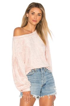 $68 Free People Milan Layering Pullover Sweater in Pink | REVOLVE... to layer over a black long Sundress