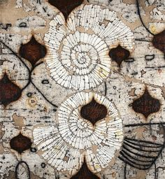 great organic textures: artist: eric gonzales, nuart gallery, santa fe, new mexico Mixed Media Canvas, Mixed Media Collage, Claude Monet, Art Du Collage, Art Et Illustration, Inspiration Art, Oeuvre D'art, Textures Patterns, Textile Art