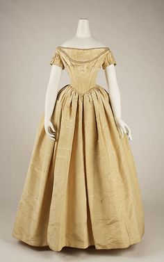 1840s dress via The Costume Institute of the Metropolitan Museum of Art