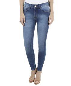 Calça Jeans Super Skinny Azul Médio - cea