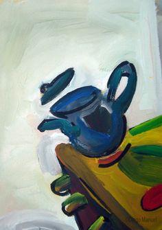 """""""cocina loca """", acrylic on canvas, 35 x 47 cm. , 2000, pinturas de Diego Manuel"""