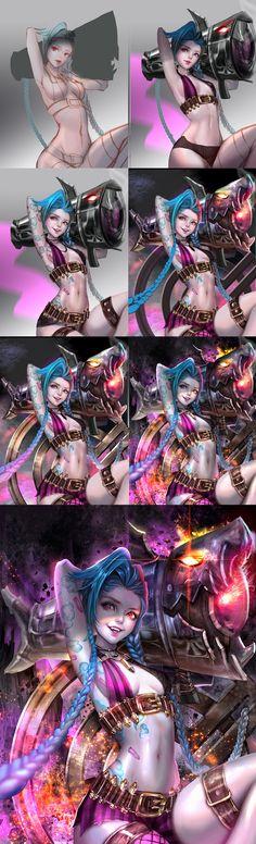 ArtStation - Jinx, the Loose Cannon, Yu Jin
