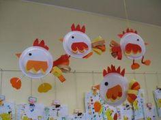 Educação, criatividade e boas ideias. : Pratinhos descartáveis viram arte.