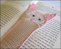 Lesezeichen Katze gehäkelt von Omis-Haekelstuebchen auf DaWanda.com