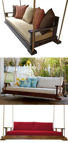 The Perfect Porch Swing - Folds flat like a bed or upright like a couch {Several Colors to choose from}