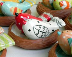 Salt and Pepper Shakers by joyelizabethceramics on Etsy, $35.00