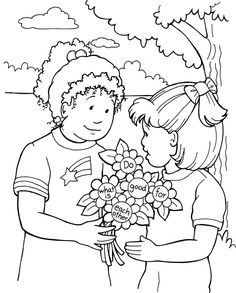 forgiving coloring page - do what is good for each other