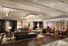 Sheraton Jakarta Gandaria City Hotel - Presidential Suite, Living area - Rendering